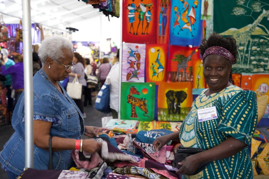 Hand Dyed African Fabric