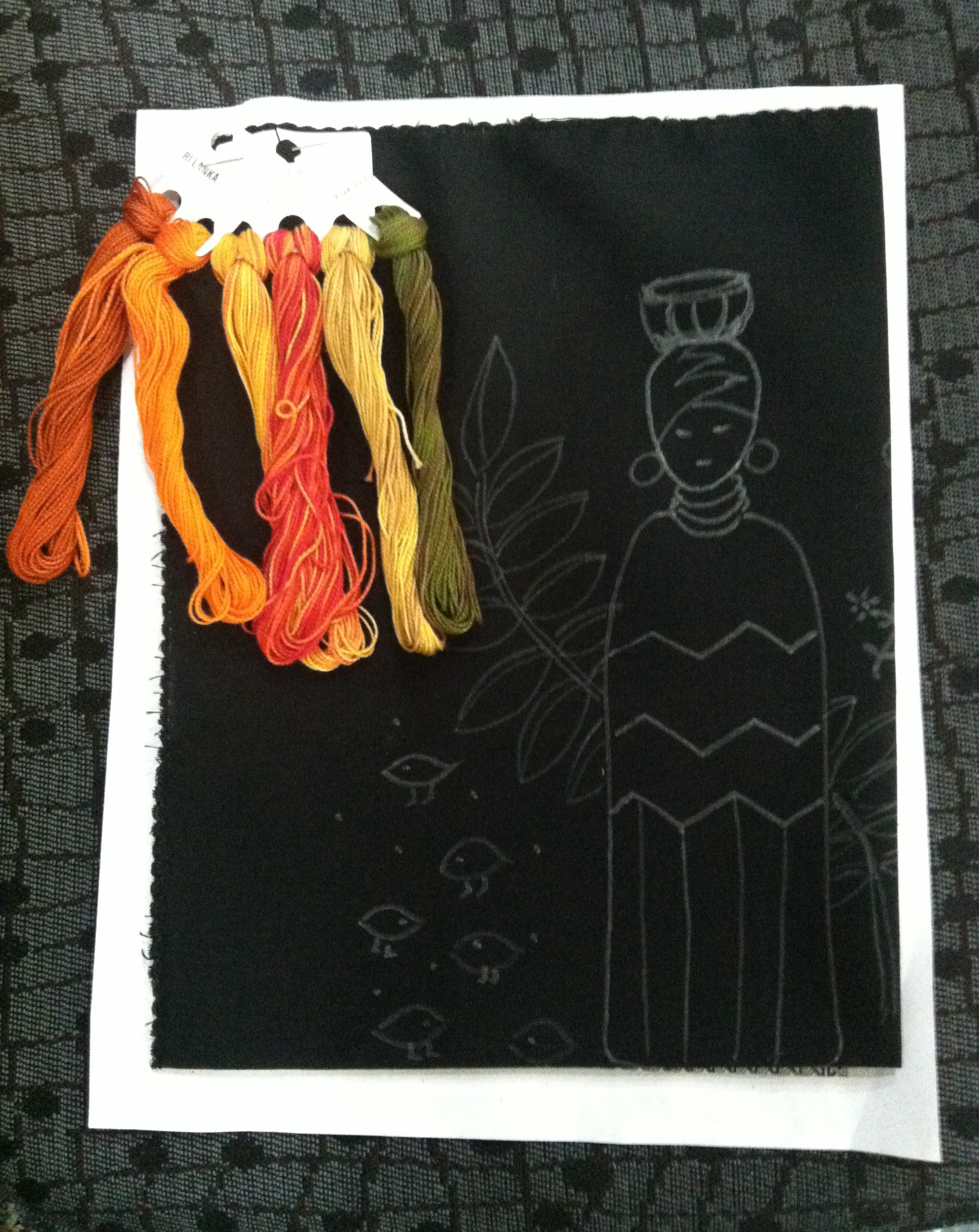 African Folklore Embroidery Kit