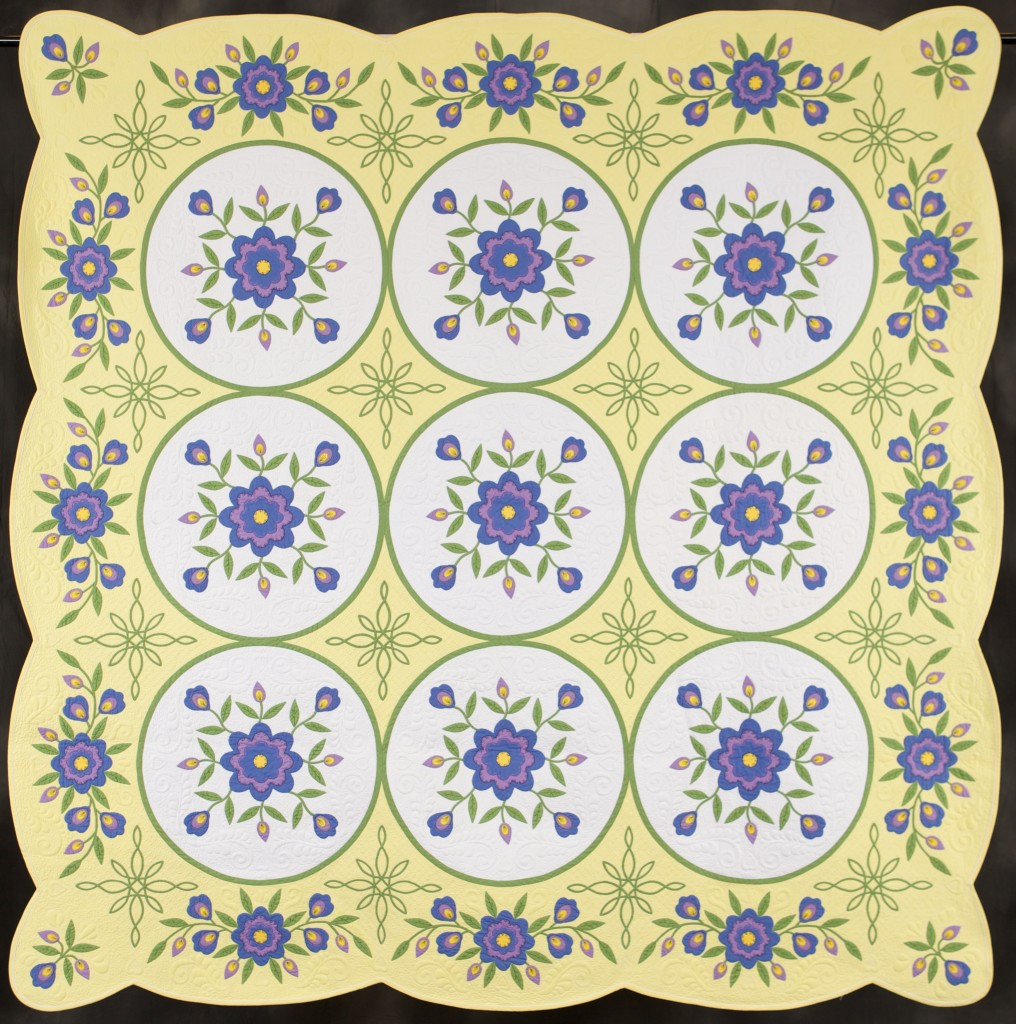 Aunt Mimi's Flower Garden Outstanding Traditional Quilt Elsie Campbell