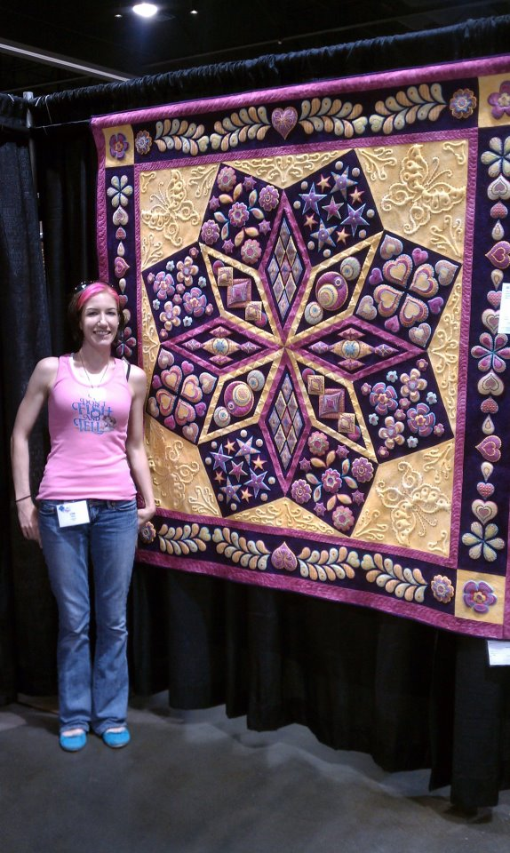 Lisa and quilt