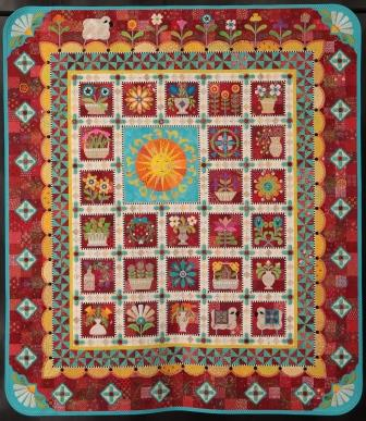 2016 Marie White Masterpiece Award made and quilted  by Janet Stone