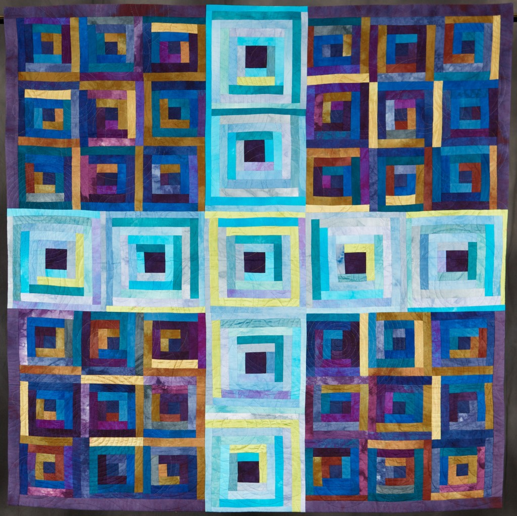 My Blue Loge Cabin - Honorable Mention- Traditional, Wall, Pieced